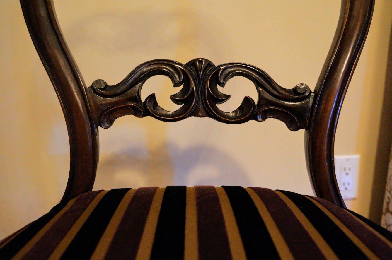 Antique Rosewood Balloon Back Parlor chairs - Antique Rosewood Balloon Back Parlor Chairs – Design By Zeina